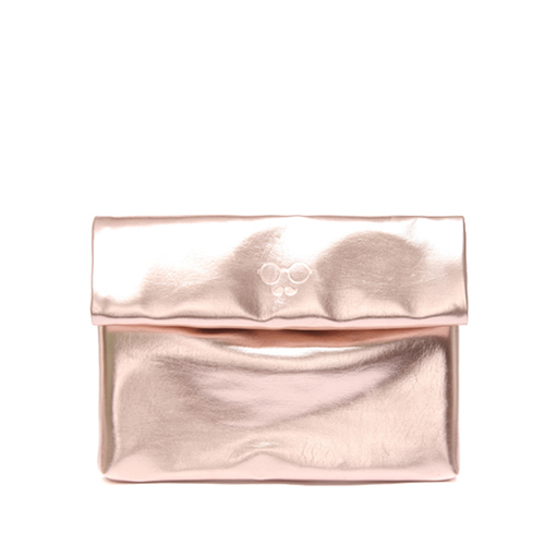 METALLIC SHINY CLUTCH - BRONZE