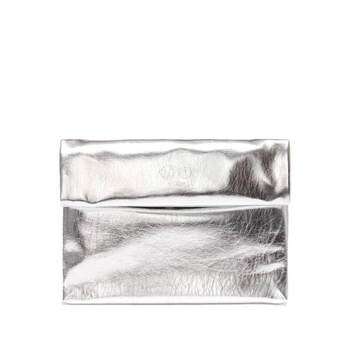 METALLIC SHINY CLUTCH - SILVER