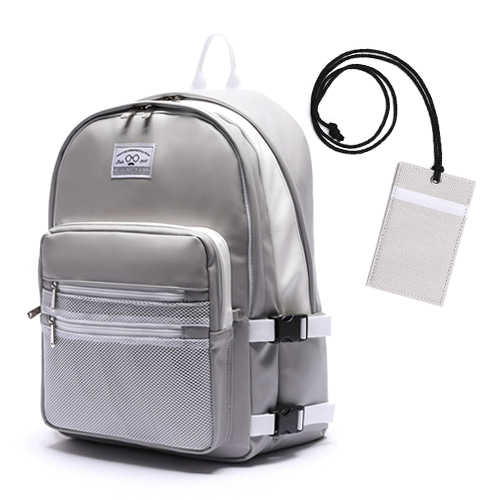 LEATHER 3D BACKPACK - GRAY
