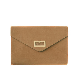 CHAMUDE CLUTCH BAG - CAMEL