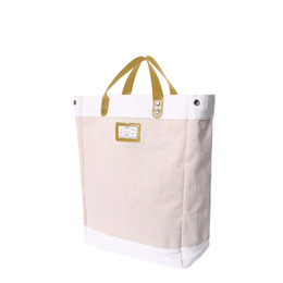 LINEN SHOPPER BAG - CAMEL