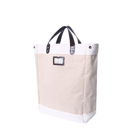 LINEN SHOPPER BAG - BROWN