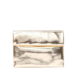 METALLIC SHINY CLUTCH - GOLD