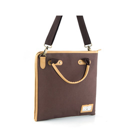 PAPER 2WAY CROSS BAG - BROWN