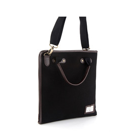 PAPER 2WAY CROSS BAG - BLACK
