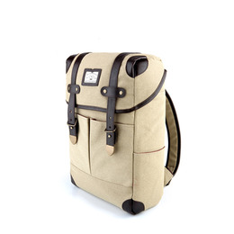 NEW SQUARE BACKPACK - BEIGE