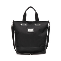 LEATHER M CROSS BAG - BLACK