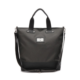 LEATHER M CROSS BAG - CHARCOAL