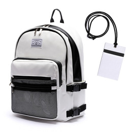 LEATHER 3D BACKPACK - WHITE