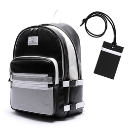 LEATHER 3D BACKPACK - BLACK & WHITE