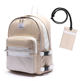 LEATHER 3D BACKPACK - BEIGE
