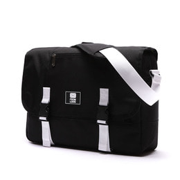 COMFORTABLE MESSENGER BAG BLACK&WHITE