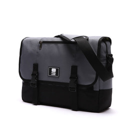 COMFORTABLE MESSENGER BAG CHARCOAL