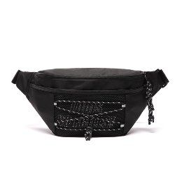 로디스 힙색 NO FRILLS WAIST BAG BLACK/WHITE